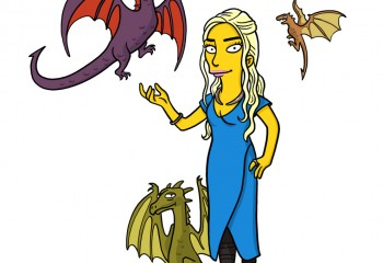 The Simpsons'tan Enfes Çizimler ile 13 Game of Thrones Karakteri