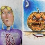 Çocuklarının Çizimlerini Renklendiren Örnek Baba