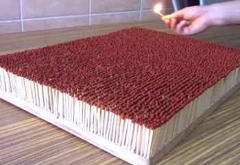 Crazy YouTuber Sets Fire To 6000 Matchsticks Together. See What Happens Next!
