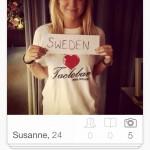 Tüm Erkeklerin Tası Tarağı Toplayıp İsveç'e Göç Etmesini Sağlayacak 16 Tinder Kullanan İsveçli Kız Profili