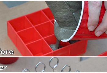 It Looked Bizarre When She Poured Cement Into Ice-Cube Trays. But The End Result…Whoa!
