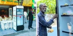 Restaurant Owner Puts A Fridge In The Street, The Reason Will Melt Your Heart!